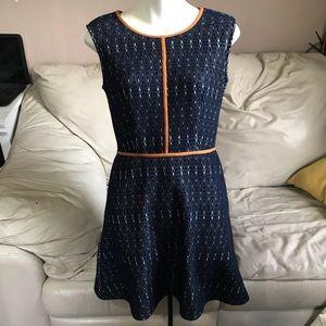 Anthropologie THML Sleeveless Textured Flare Dress